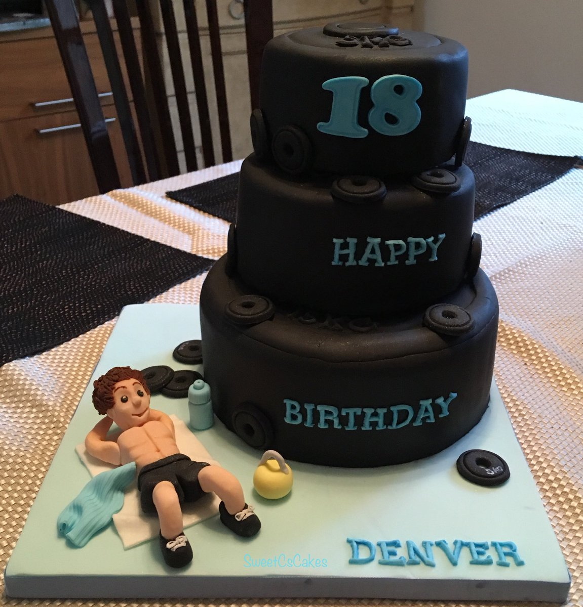 Gym Themed 18th Birthday Cake Xx 18 Chocolateorange Buttercreampictwitter UjApTw8LmN