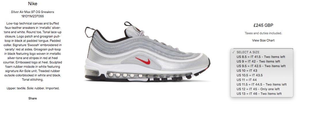 Nike Air Max 97 Plus UK 11 US 12 EU 46 DS Depop