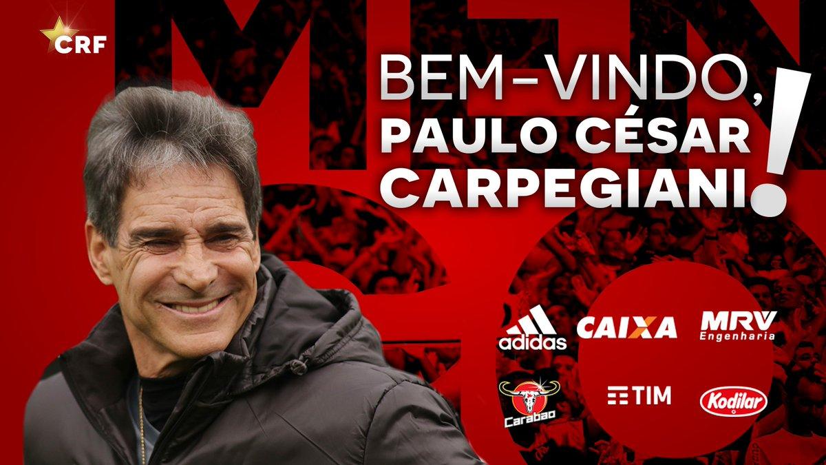 Paulo César Carpegiani é o novo técnico do Flamengo  Nota: https://t.co/dJkqVgioBT  Bem-vindo! #CRF #BemVindoCarpegiani #VamosFlamengo