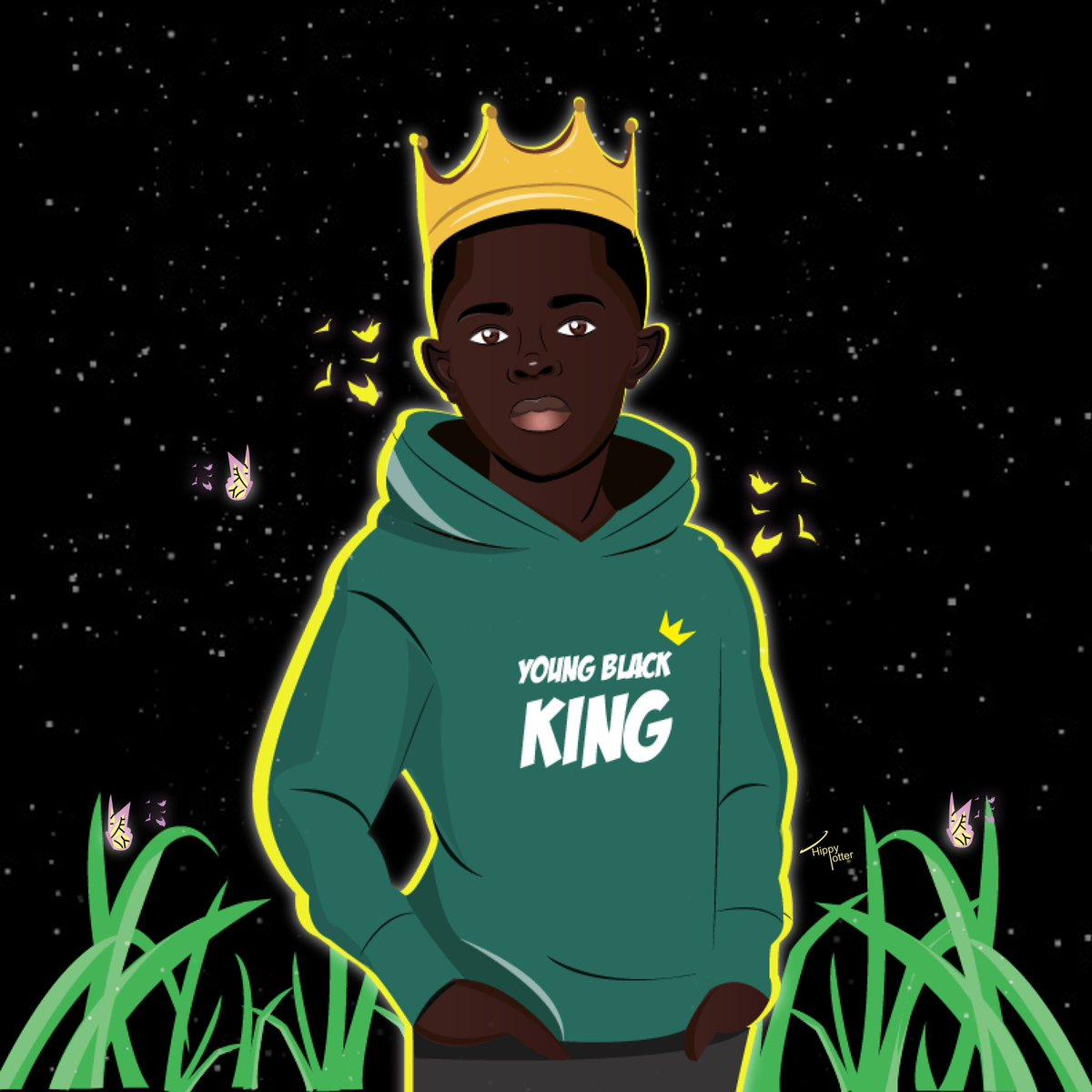 Flipthescript young black king hm illustrated by mepic twitter com pk8mmmdx8f