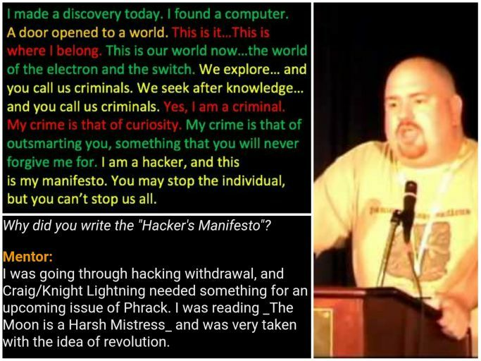 a discussion on hackers and their manifesto