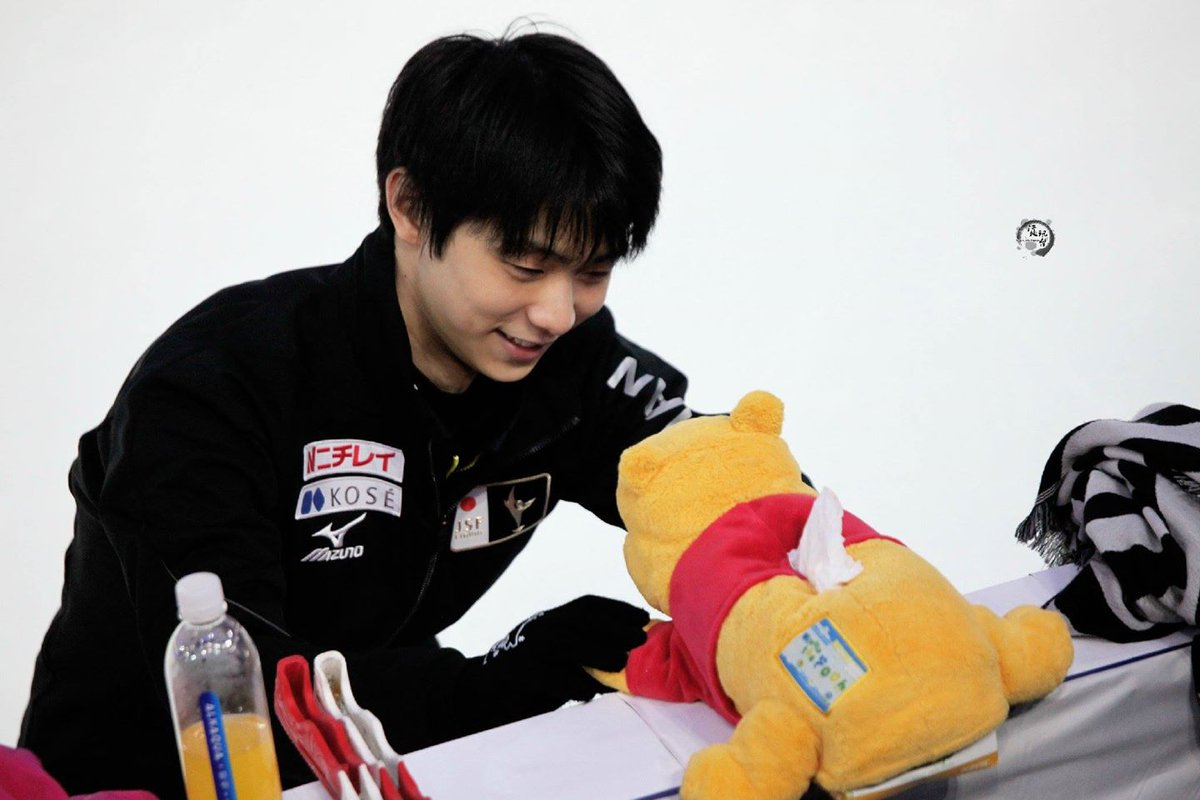 "Disney on Twitter: ""Figure Skating Champion Yuzuru Hanyu's Good Luck Charm Is #WinniethePooh: https://t.co/DA8Z98Ryt3 ⛸… """
