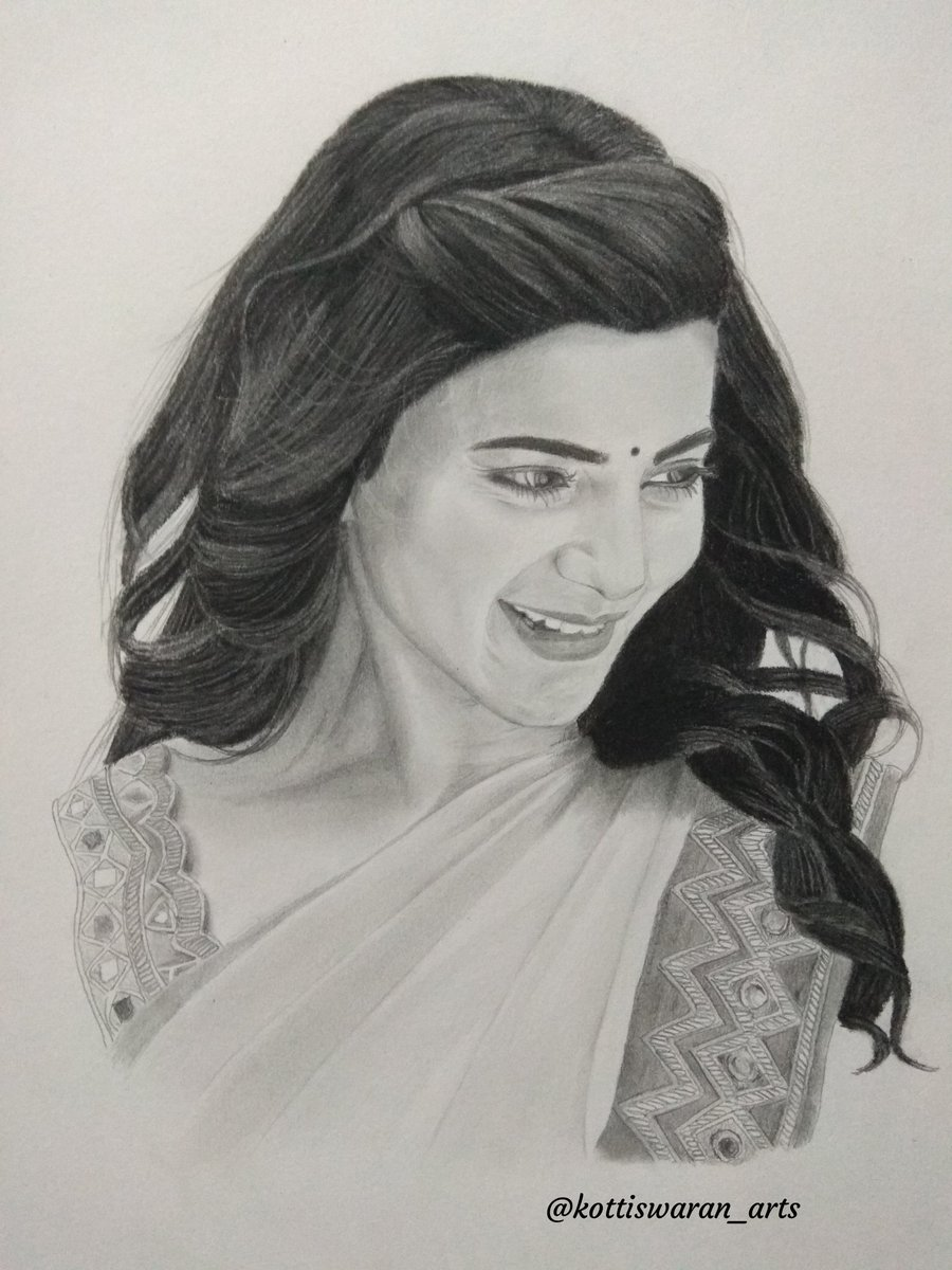 Kottiswaran subramaniam on twitter my new pencil sketch gorgeous samanthaprabhu2 samanthafanzzz samanthaakkineni samantha samantharuthprabhu