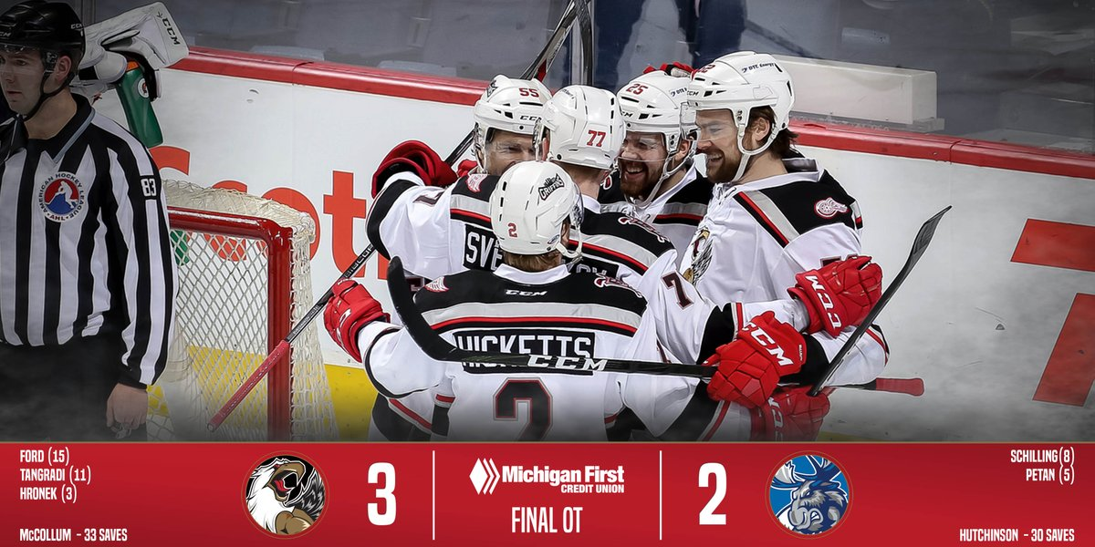 The #Griffins defeat the @ManitobaMoose...