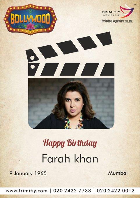 Trimitiy Studios wishing to Farah Khan a very Prosperous Birthday...HAPPY BIRTHDAY...