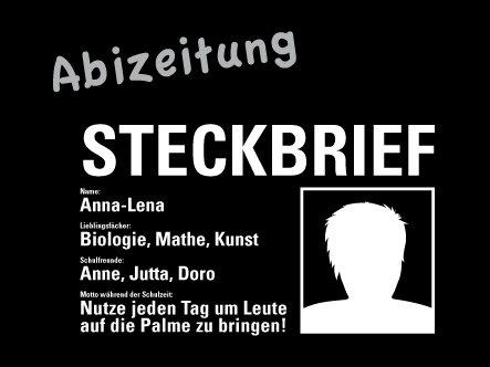 Abizeitung steckbrief Steckbrief Abizeitung