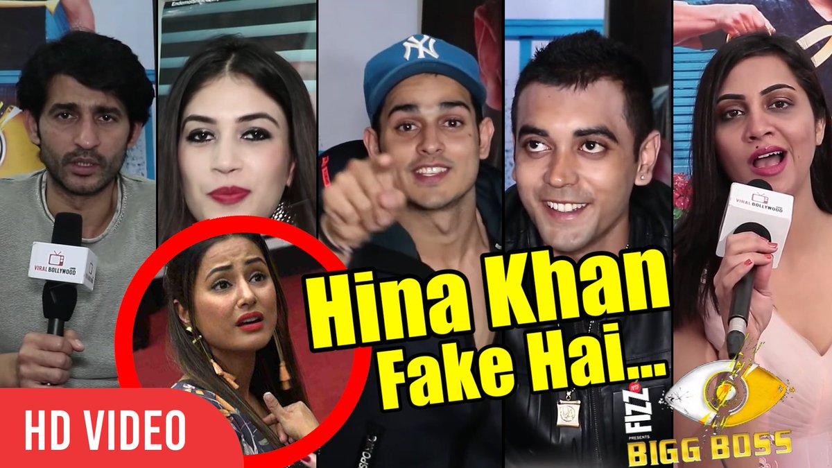 Viral Bollywood On Twitter Therealityshows Watch Hinakhan Fake Hai Biggboss11 Evicted Contestants Reaction On Hina Hiten Arshi Priyank Luv