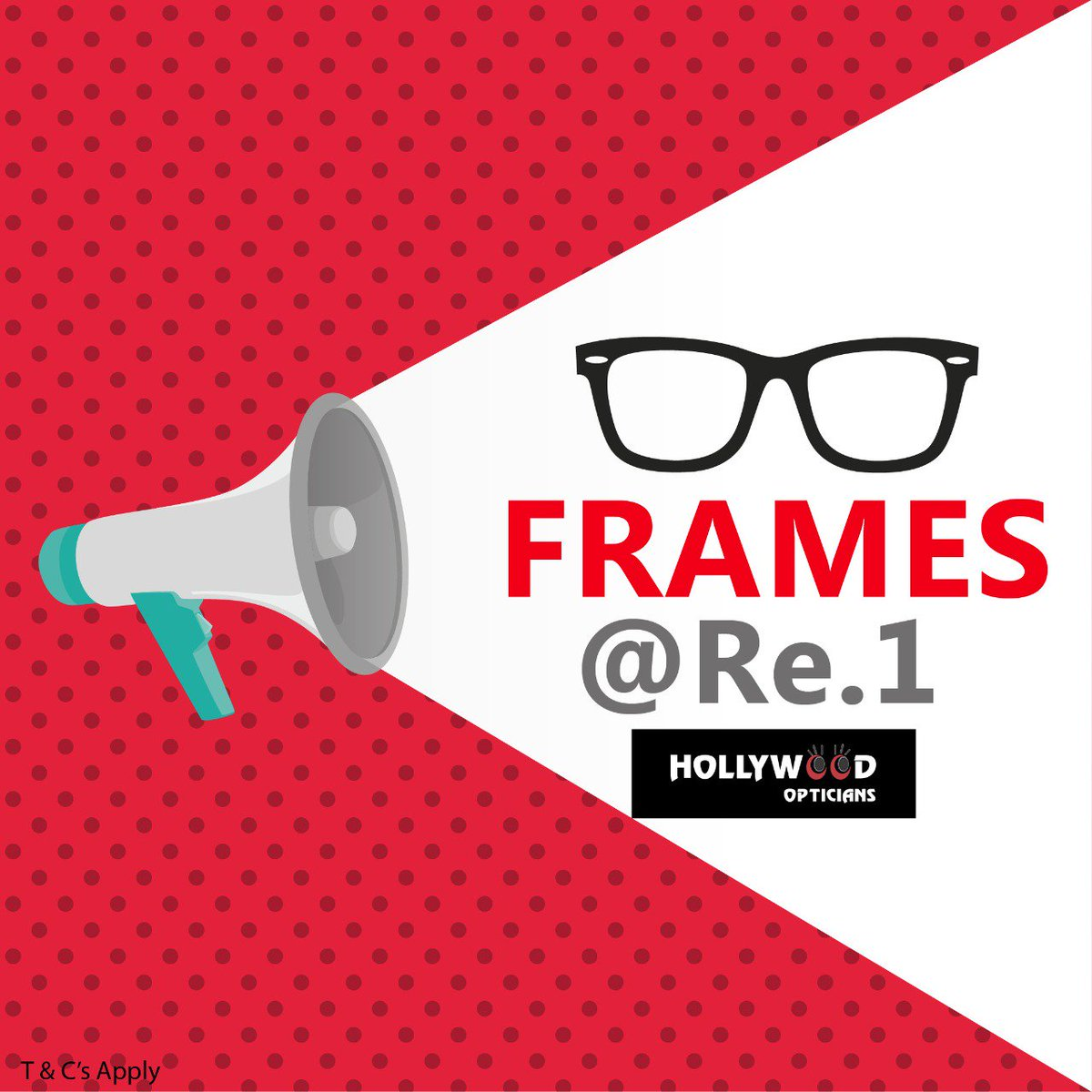 Rush to your nearest Hollywood Optician store and get your favorite frames only at Re.1/-  #offers #opticians #Sunglasses #frame #spectacles #shopping  #mall #retail #Lens  #TuesdayThoughts<br>http://pic.twitter.com/MPRGqcRquT