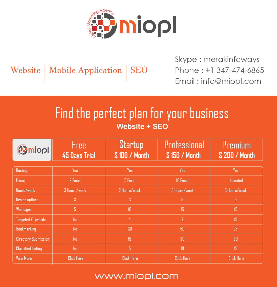 Here's Plans for #WEBSITE + #SEO for your website at good price #SEOservices #SMO #SMOservices #socialmediamarketing #SMM #LocalSEO #MobileMarketing #DigitalMarketing #Brading #reputationmanagement #Socialpagemanagement #onpageSEO #offpageSEO #InfluencerMarketing <br>http://pic.twitter.com/7yf5IzdExe