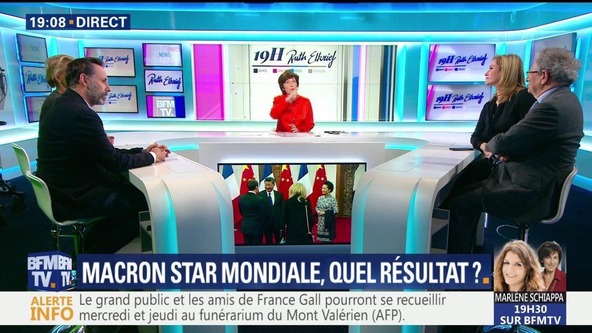 Première visite officielle en Chine d'Emmanuel Macron depuis le début de son mandat. Mais quels résultats concrets ? Pour en discuter, @MelissaBellCNN était l'invitée de @ruthelkrief sur @BFMTV aux côtés de @Ockrent, Dominique Moïsi et  @Poulin2012 : https://t.co/HaLThjOGWO
