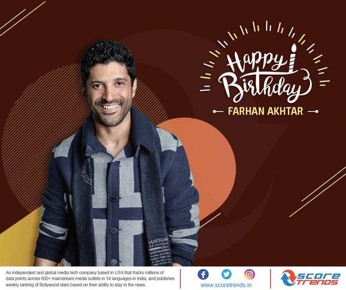 Score Trends India wishes Farhan Akhtar a very Happy Birthday!