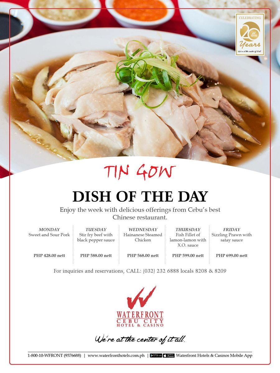 Waterfront cebu on twitter enjoy the week with delicious offerings waterfront cebu on twitter enjoy the week with delicious offerings from tin gow cebus best chinese restaurant call 032 232 6888 for inquiries and forumfinder Images