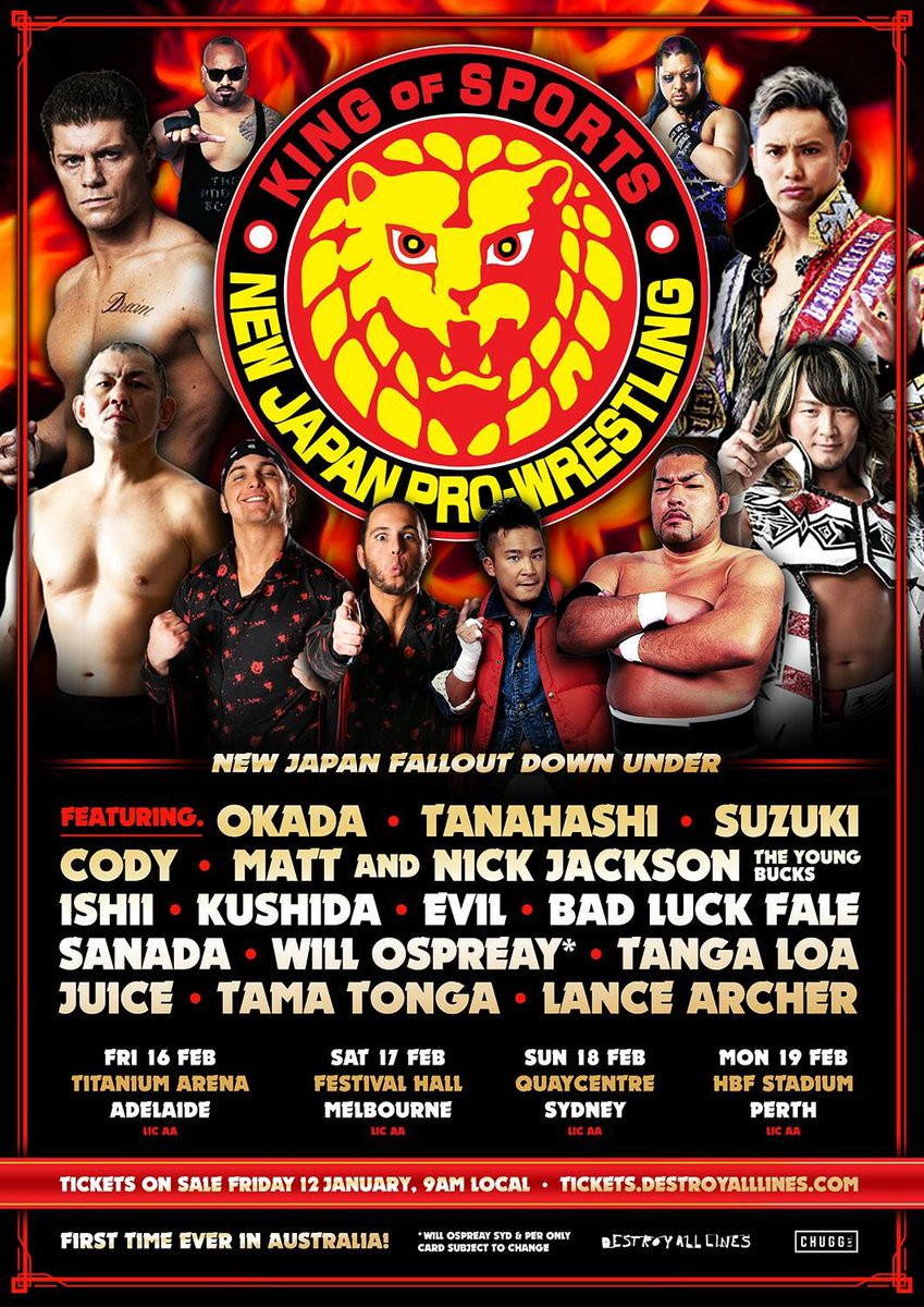 Image result for New Japan Fallout Down Under