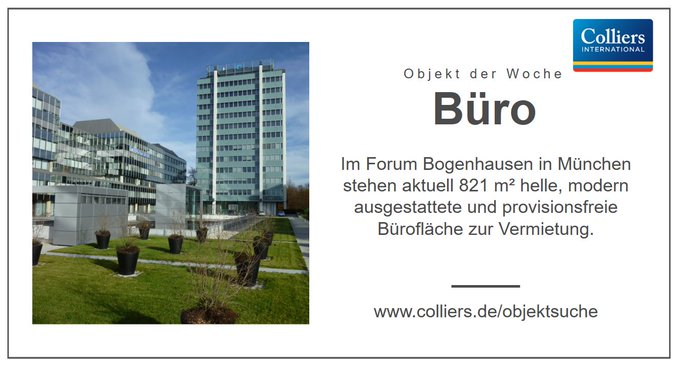 Objekt der Woche: #München<br>Die ideal angebundene Bürofläche im Zentrum Nord-Ost verfügt über funktionale Ausstattung und flexible Laufzeiten. Alle Infos zum Objekt &quot;Forum Bogenhausen&quot; gibt&rsquo;s hier:  #Büro t.co/CYIfzhwj9e