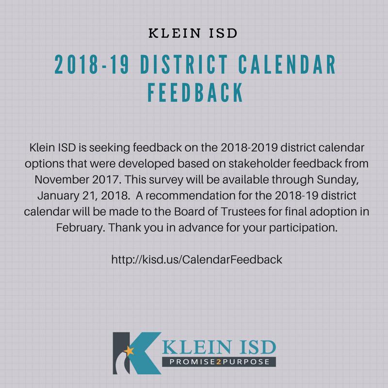 Klein Isd 2019 Calendar Klein ISD on Twitter: