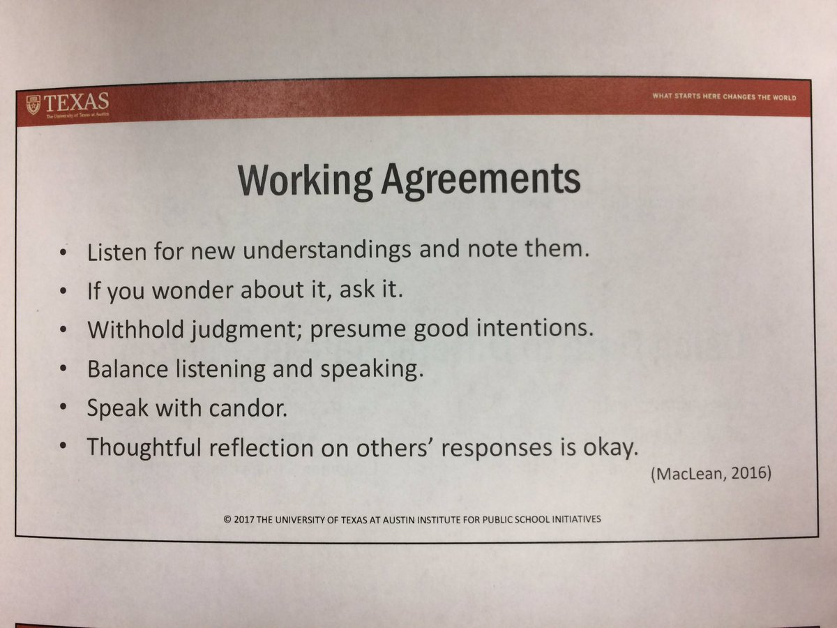 Michelle rinehart on twitter love these working agreements every write down the working agreement you will focus on as a learner and participant throughout this session learning with utipsi region18esc platinumwayz