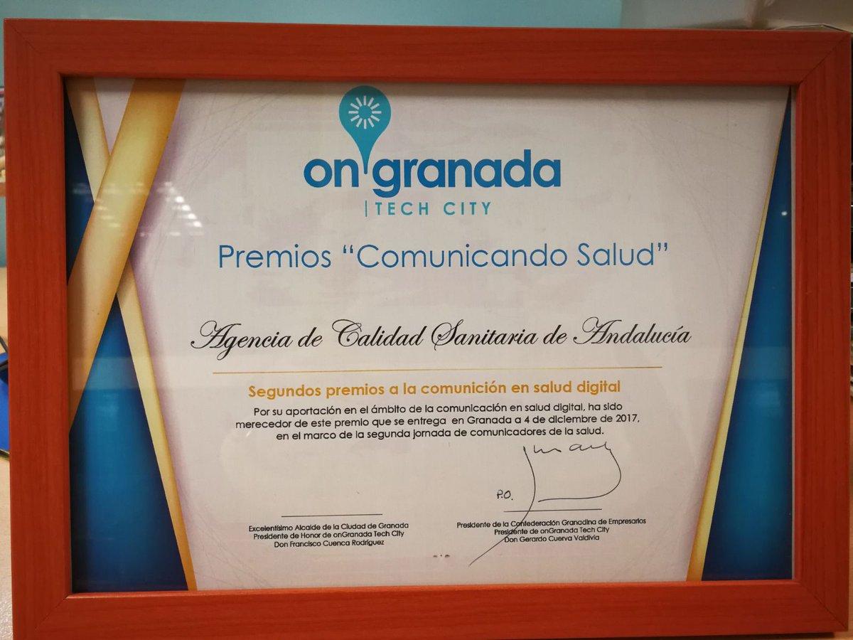 Agencia de Calidad Sanitaria de Andalucía on Twitter: \
