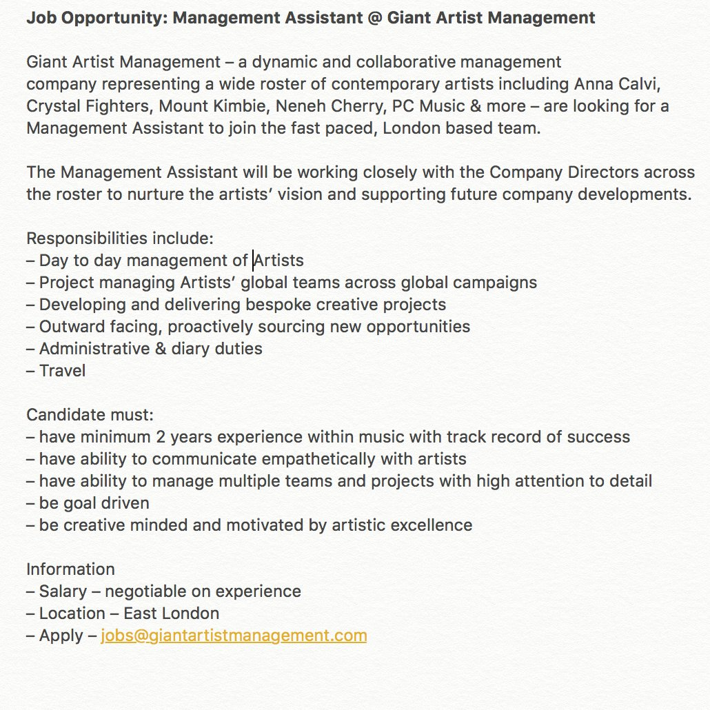 0 replies 5 retweets 7 likes - Artist Management Jobs