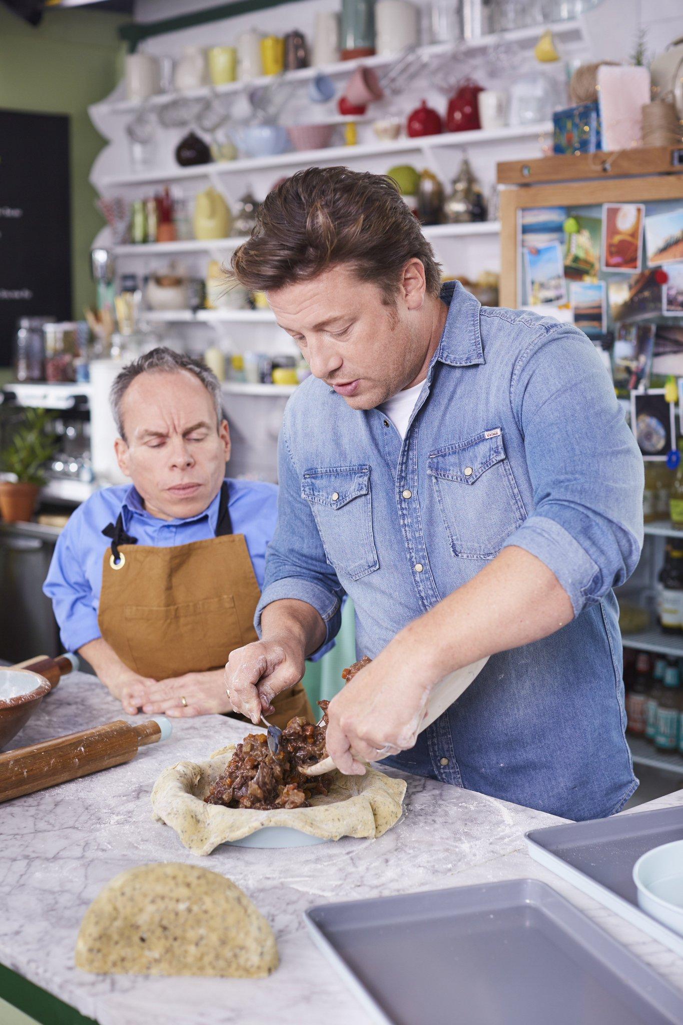 .@WarwickADavis and the (Half-Blood) Chef! #FridayNightFeast, this Friday, 8pm on @Channel4. https://t.co/W0CVylFd8K