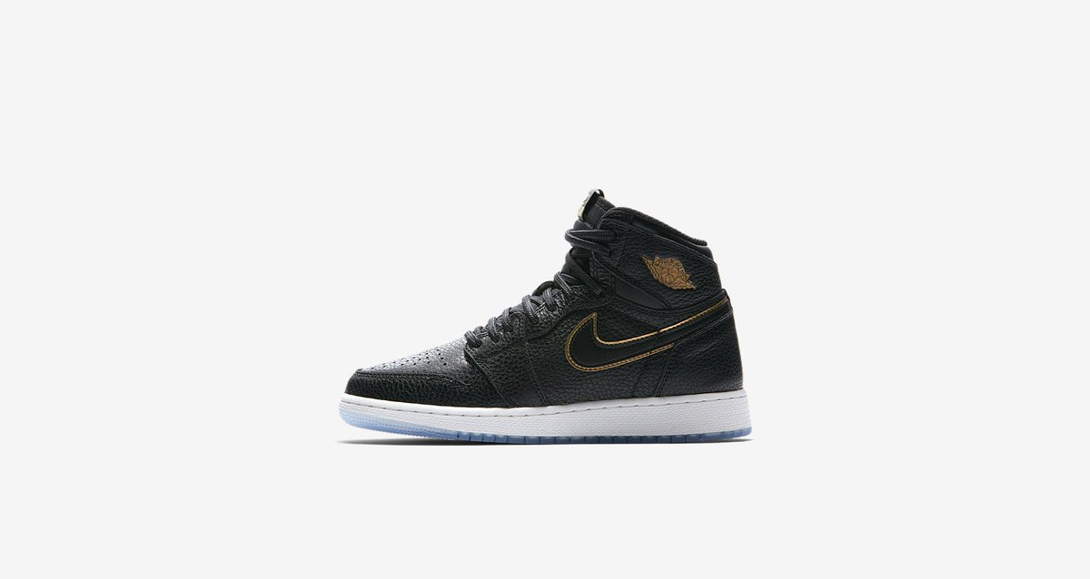 33aa8d558993 New release  Nike Air Jordan 1 Retro High OG  City Of Flight  (black metallic  gold-summit white) €150.00