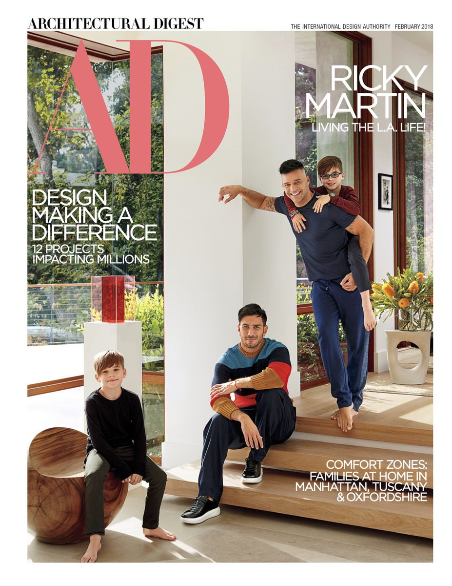 .@ricky_martin takes AD inside his bliss...