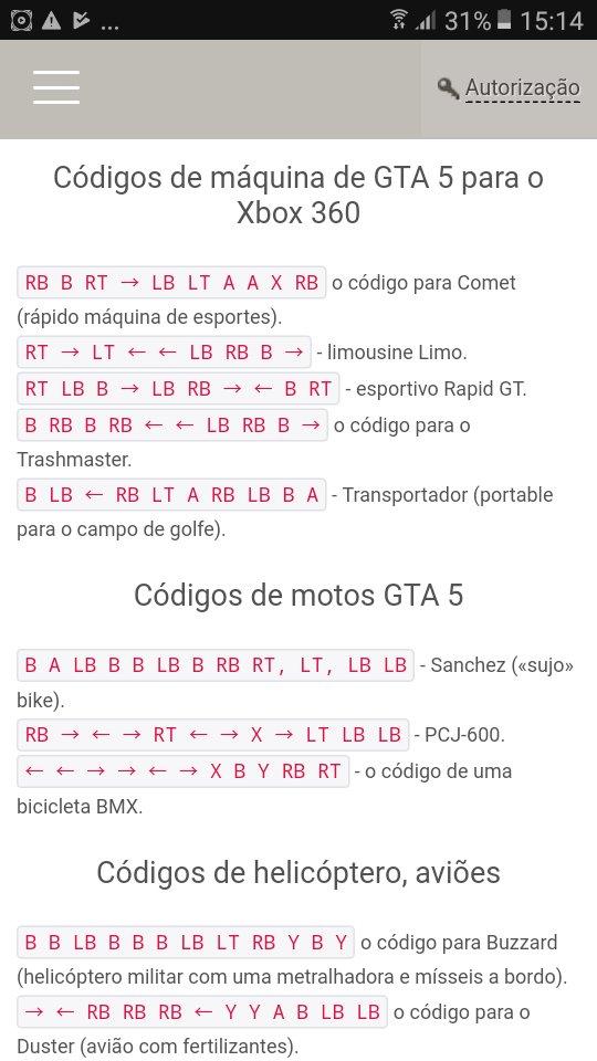 códigos de gta 5 xbox 360