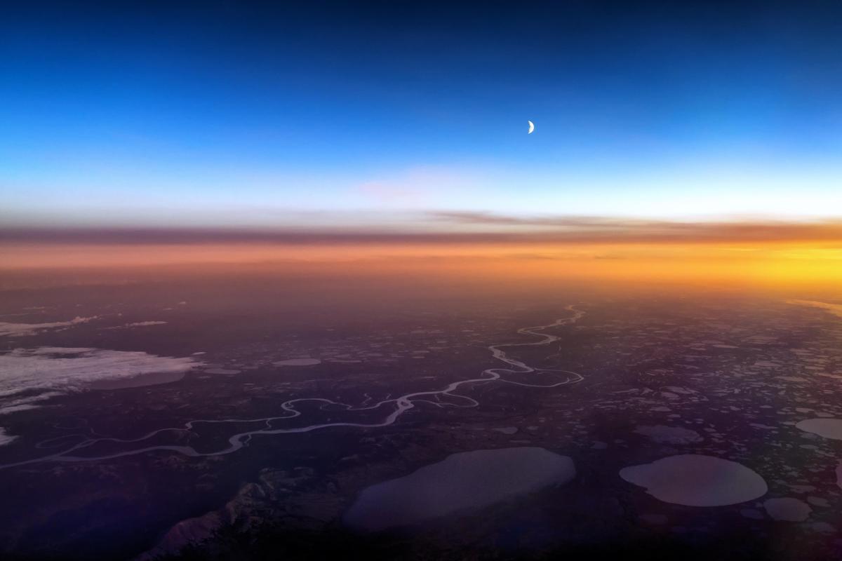 Фото земли из кабины самолета