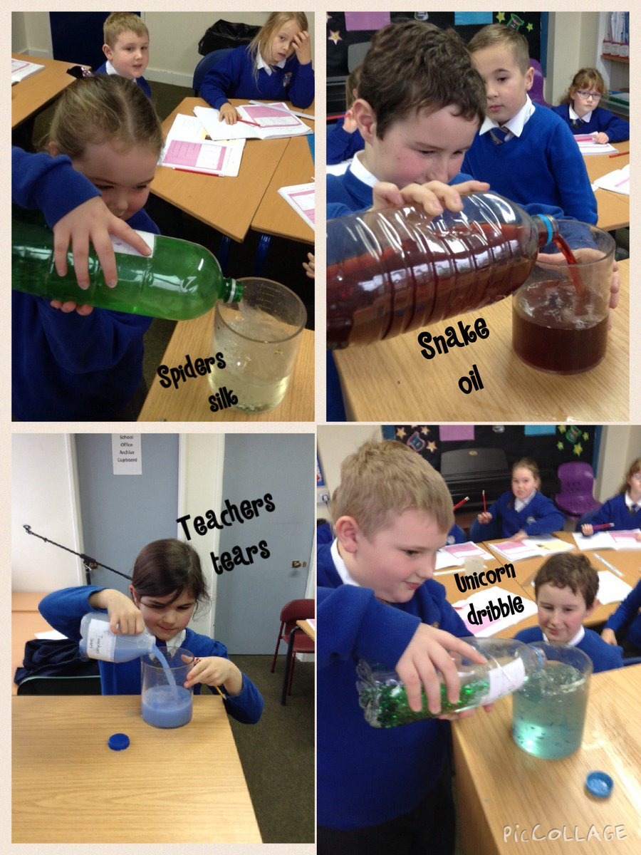 After some strange potions arrived in Sydney Class the children had to figure out how to measure the capacity of each one. #harrypotter @jk_rowling #maths #learning