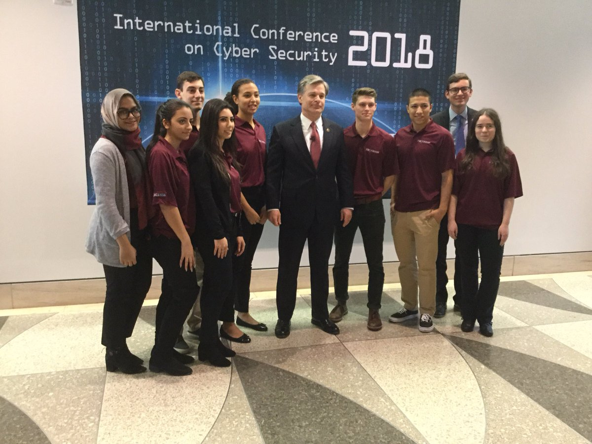 FBI Director Wray meets with Fordham University's students at ICCS2018 #iccsny