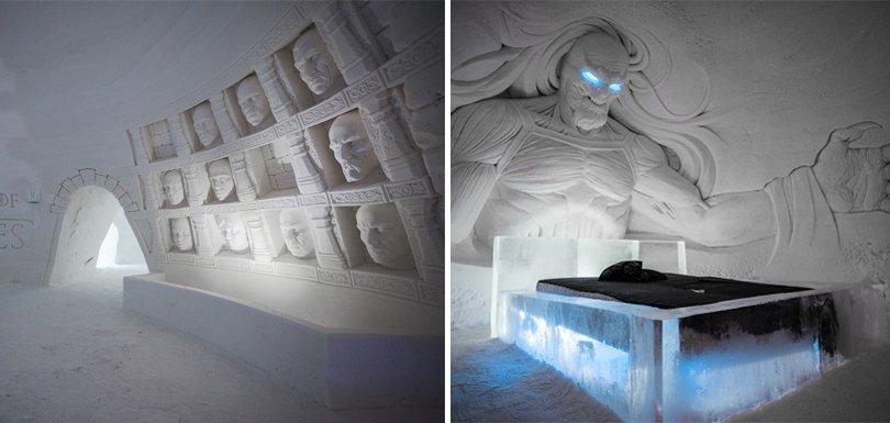 Cet hôtel de glace vous immerge dans l'ambiance de #GameOfThrones https://t.co/yoIn9r0otI #GOT