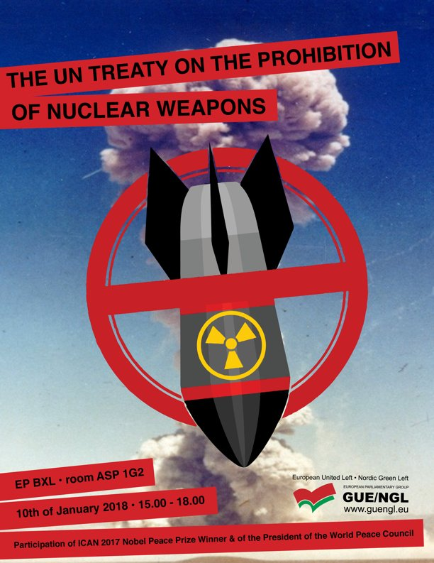 Resultado de imagem para The UN Treaty on the Prohibition of Nuclear Weapons GUE/NGL