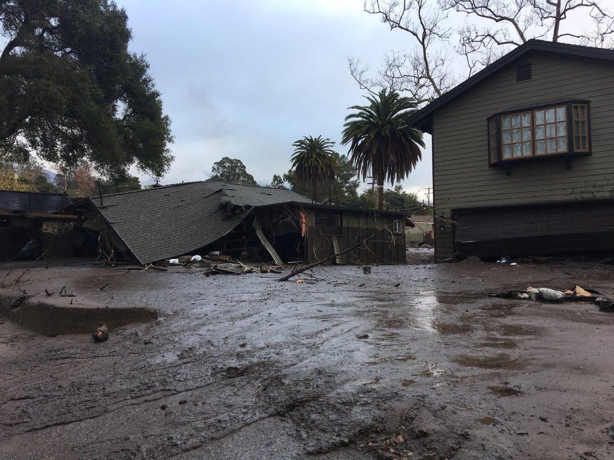 Floods and mudslides hit Montecito California DTHOf2RU8AAA81s