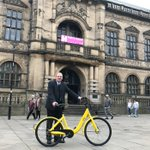 It's been an epic day to get on your bike with the launch of @ofo_bicycleUK here in #Sheffield. Cabinet member @Jack_Scott was one of the first to try out the dockless delights. 🚴‍♀️🚴‍♀️ https://t.co/XnL31jJu1c