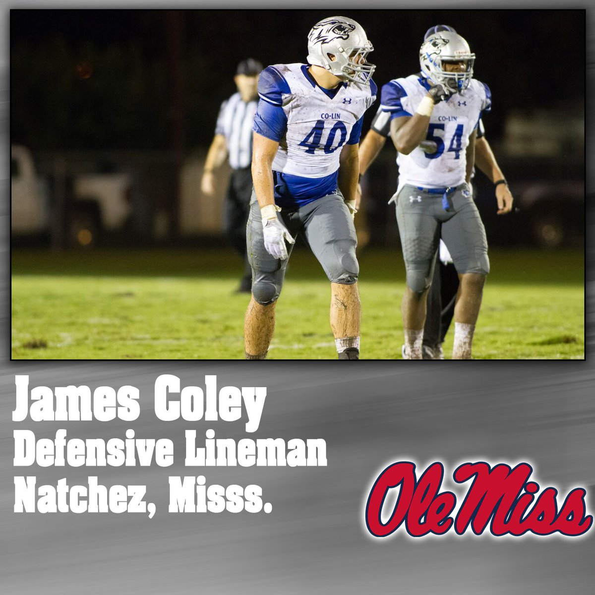 Congratulations to James Coley for continuing your career at @OleMissFB!
