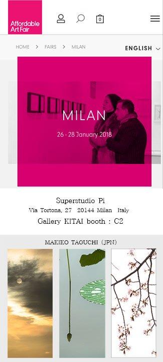 「Affordable Art Fair Milan 2018」Gallery KITAIブース : C2