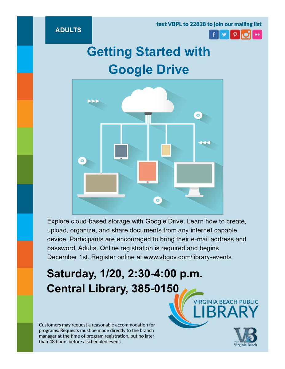 VB Public Library On Twitter Want To Learn More About Using Google - How to create a flyer on google docs