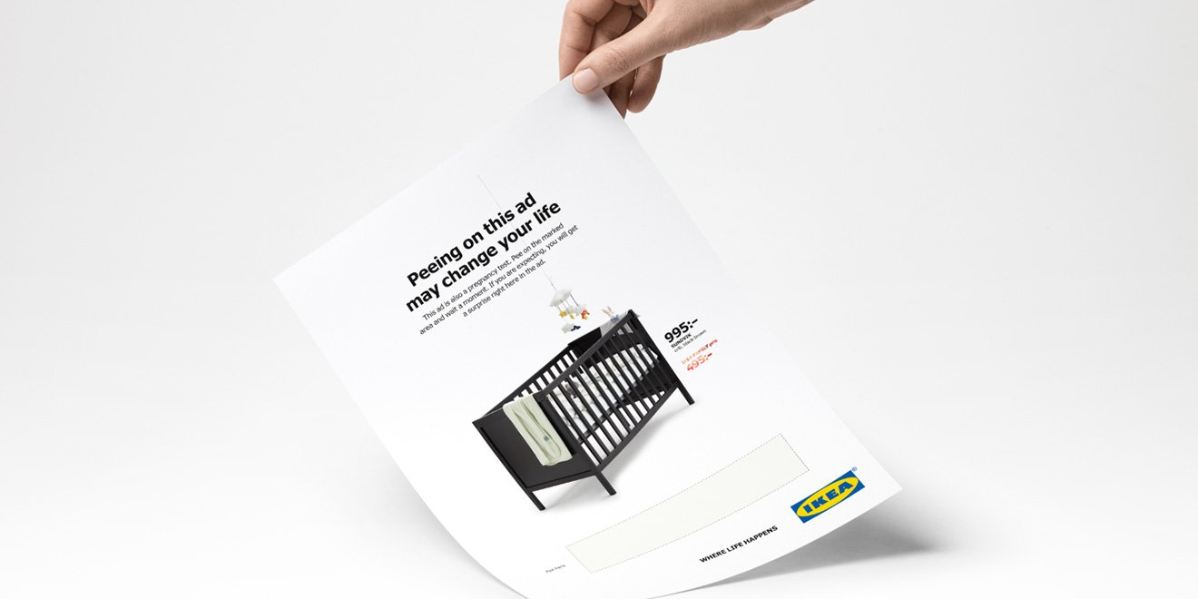 Ikea wants you to pee on this ad and if you're pregnant, it'll give you a discount on a crib https://t.co/MjuUiQSkZz https://t.co/wAMXt8IdkJ