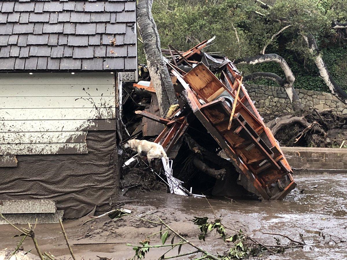 Floods and mudslides hit Montecito California DTHkBMEUQAAYDd2