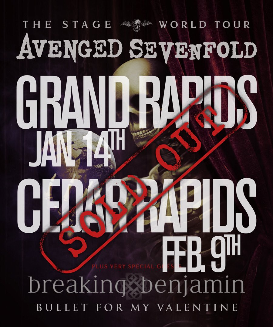 Hesitate It Could Be Too Late To Catch A Show Near You Get Tickets Now Avengedsevenfold Tour Pictwitter UXWgQxDeBz