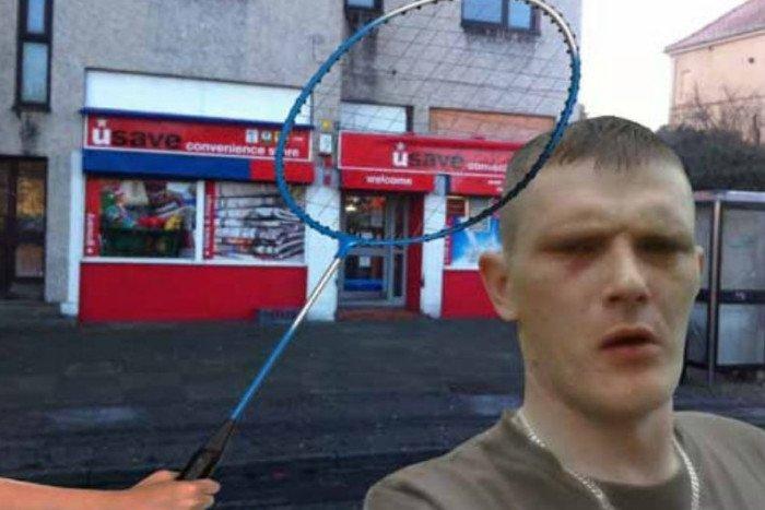 RT @edinburghpaper: Shopkeeper fights off knife robber with badminton racquet  Read more at: https://t.co/aVrVkdoe0w https://t.co/7gZoFNTMtj