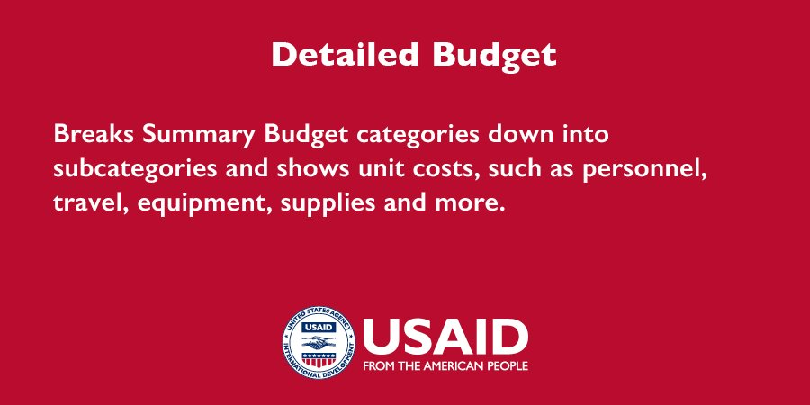 usaid business opps on twitter be prepared to present your cost