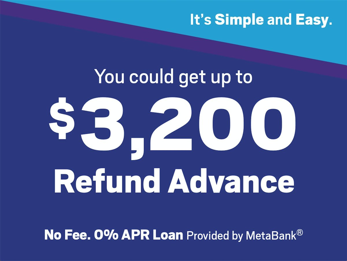 Jackson Hewitt On Twitter You Could Get Up To  With A No Fee Refund Advance  Apr Loan By Metabank At Participating Stores