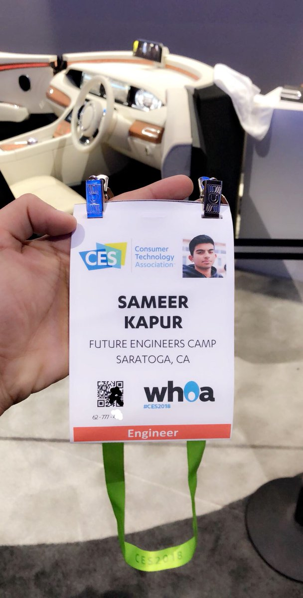 First time at CES! I'm on the showfloor...