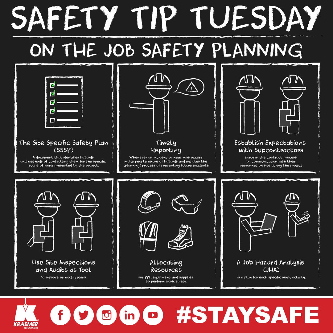 Kraemer on Twitter Planning for safety to be integrated into all – Job Site Specific Safety Plan