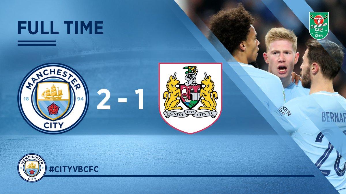 Chấm điểm trận Manchester City 2-1 Bristol City