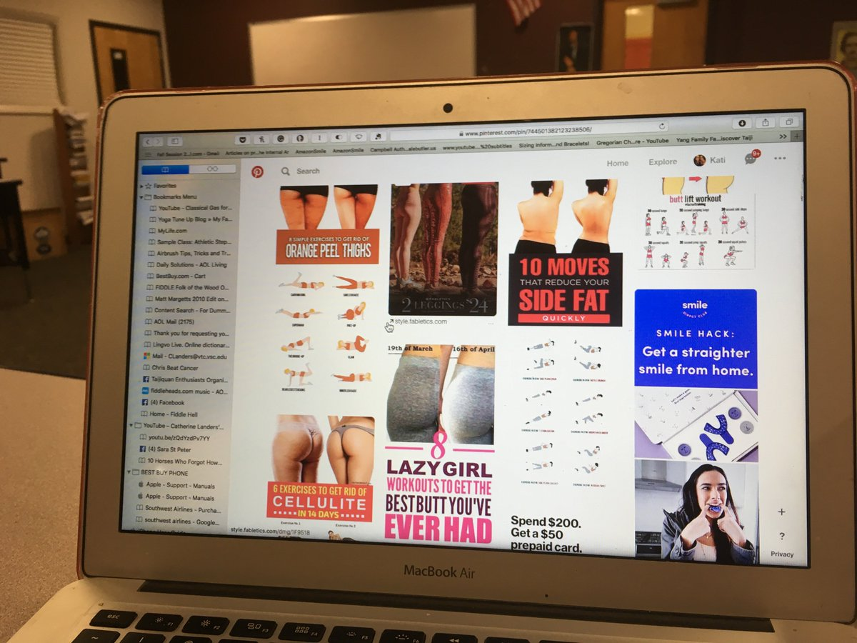 screenshot of pinterest page showing a lot of women's butts in spandex