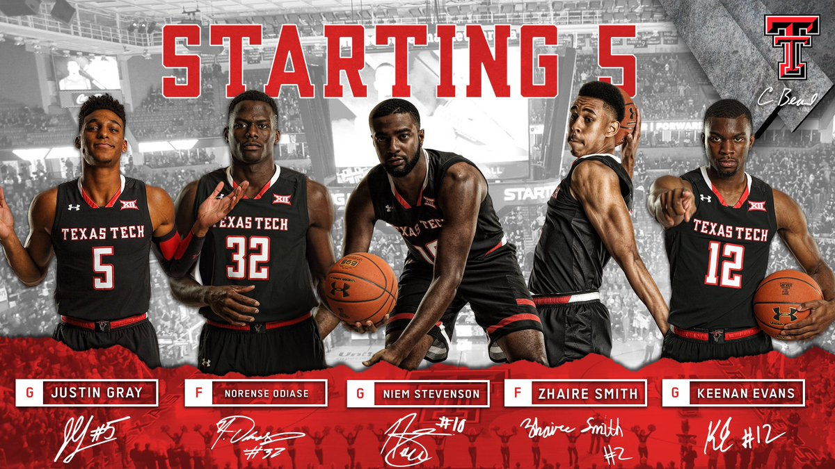 Texas Tech Basketball On Twitter 1 2 5 1 0 2 3 2 Welcome To The Starting Lineup For The First Time Zhaire Wreckem 4to1