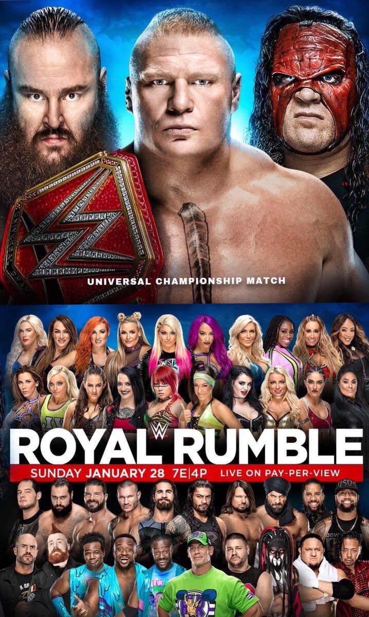 wwe royal rumble 2018 - DTIxxtOX0AADrWI - WWE Royal Rumble 2018 Matches, Predictions, Poster, Date, Location & Start Time