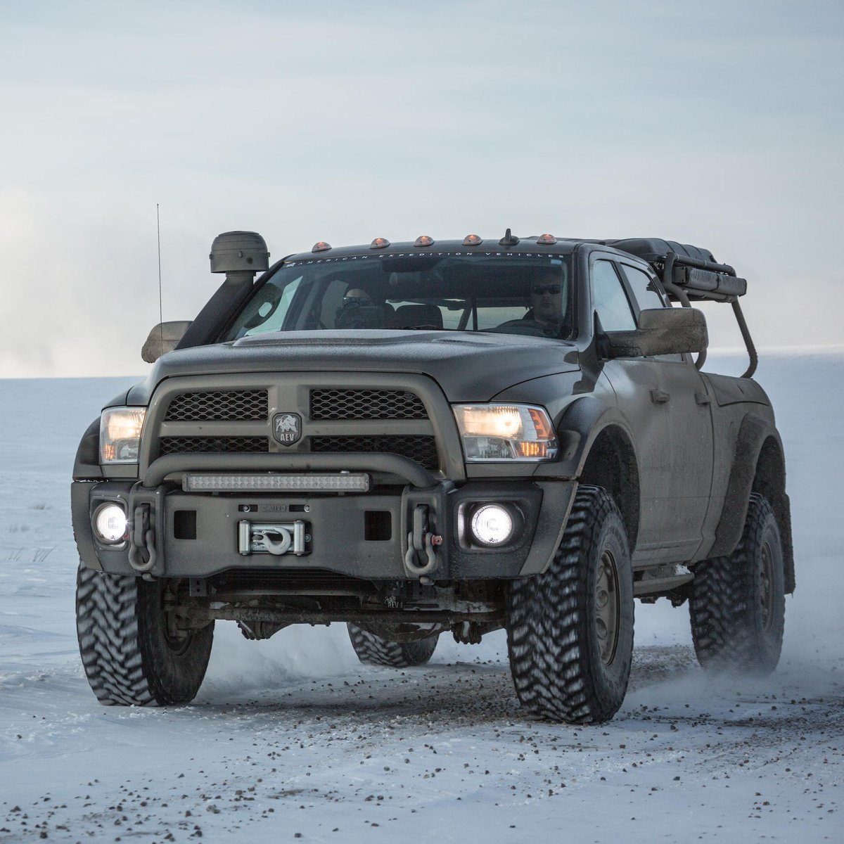 ram trucks on twitter tackle the tundra photo credit aev conversions twitter