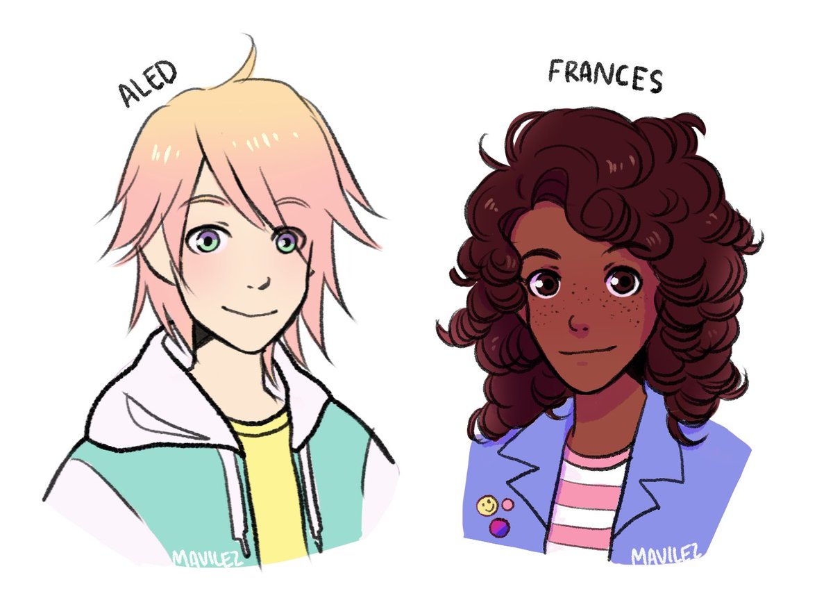 """mariana on Twitter: """"i drew aled and frances from radio silence ..."""